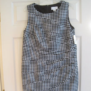 Dresses & Skirts - JESSICA SIMPSON BLACK AND WHITE HERRINGBONE DRESS